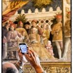Foto alla camera degli sposi a Mantova