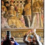 Foto all'affresco del Mantegna